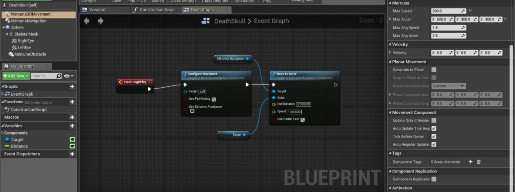 Unreal engine 4 integration 3d navigation mercuna blueprint and c apis malvernweather Images