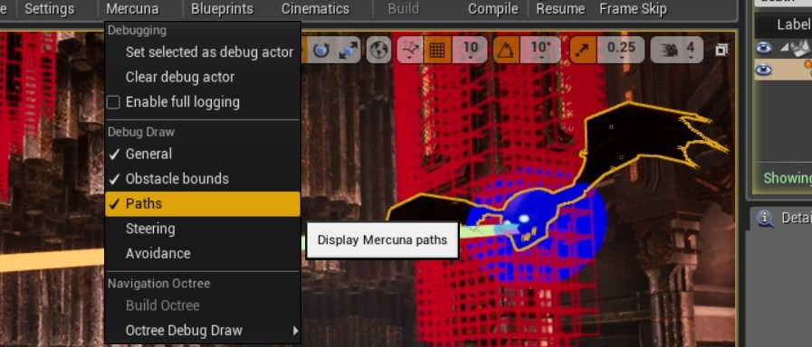 Mercuna Unreal editor tools